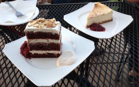 Naggiar Vineyard & Winery: Chocolate Cake and Massive Cheesecake