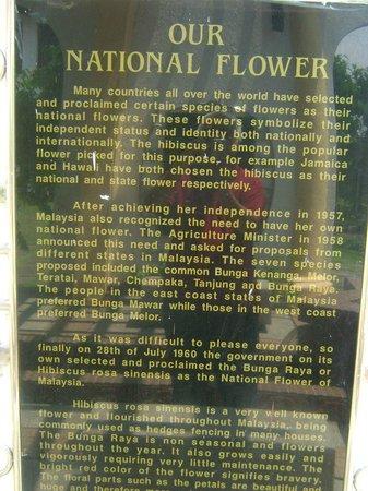 The Hibiscus Park: Sign board at Taman Bunga Raya