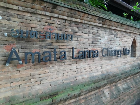Amata Lanna: The signage from the street