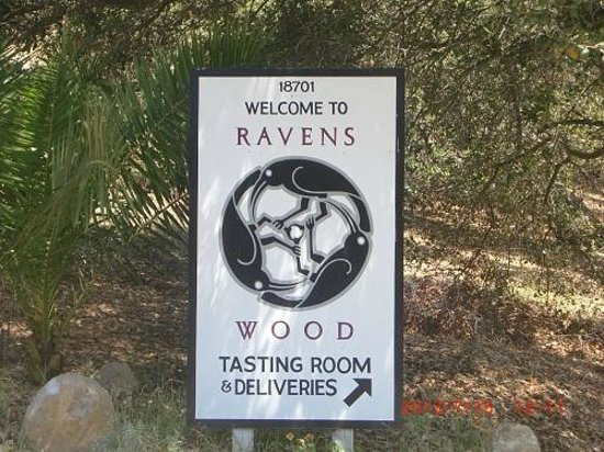 Ravenswood Winery : 道中にあった案内標識