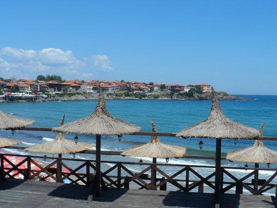 Hotel Hera: Пляж и вид на Старо място