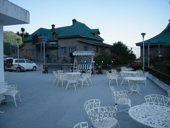 The Srikhand (HPTDC): View of the complex from open terrace Bar/Restaurant