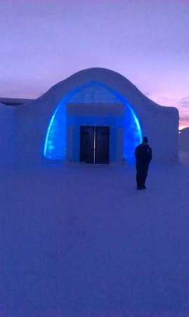 Icehotel: Ice Rooms and Ice Bar Entrance