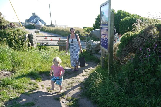 Trevedra Farm Caravan and Camping Site: Walk to the beach