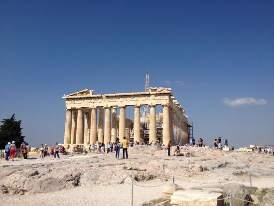 Antelope Travel Athens Day Tours: first view of the Parthenon