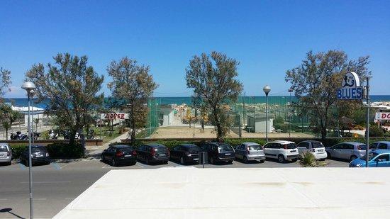 Blues Hotel: Vista mare dalla camera