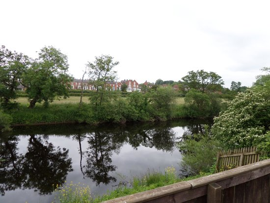 Riverside Lodges: view from decking