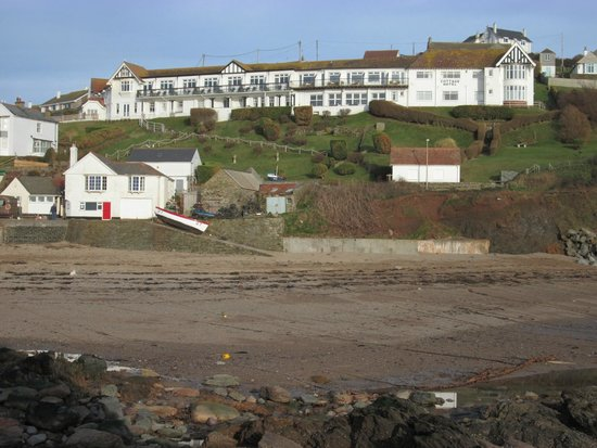 The Cottage Hotel from the beach