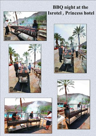 Eilat Princess Hotel : evening BBQ