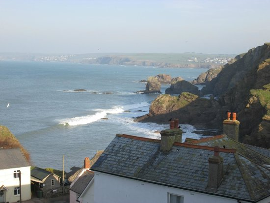 The Cottage Hotel: View from room towards Burgh Island
