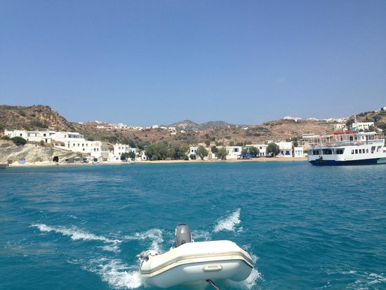 Perseas Boat: Beautiful Pollonia from the water.
