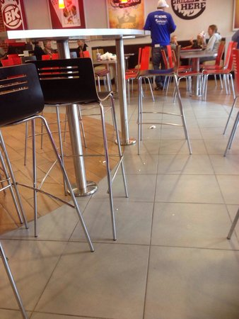 Burger King: Rubbish all over the floor even a cigarette end !