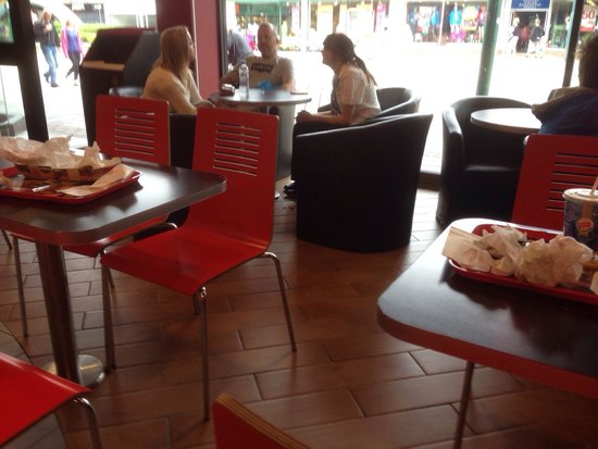 Burger King: Couldn't find a clean table staff too busy chatting