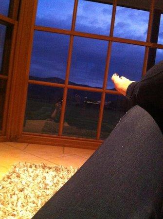 Berenbell Vineyard Retreat: Next to the Fire enjoying the view still