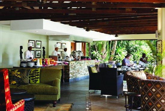 Breakfast on the terrace at Ghost Mountain Inn