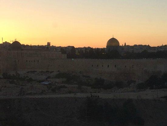 Jerusalem Panorama Hotel: Вид из окна ресторана на Старый город