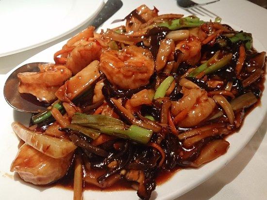 Ho Chow Restaurant : エビと野菜の炒めもの
