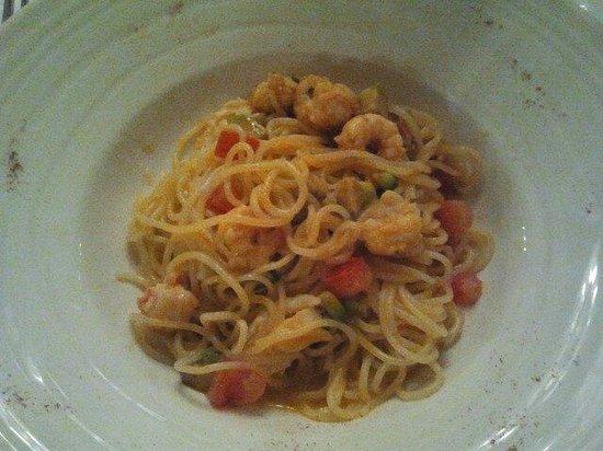 Hostaria da Franz : Spaghetti con scampi e avocado