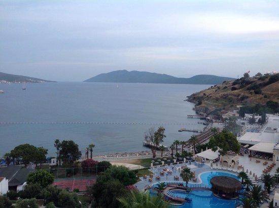 Dolce Bodrum Hotel: Bardakci koyu ve otelin manzarasi :)