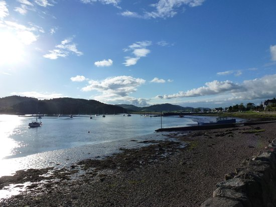 Anchor Hotel at Kippford: Evening on River Orr from The Anchor Hotel