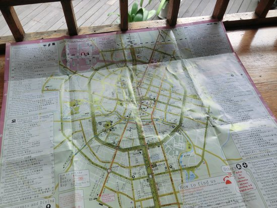 Hello Chengdu International Youth Hostel: 無料でもらえる成都の地図