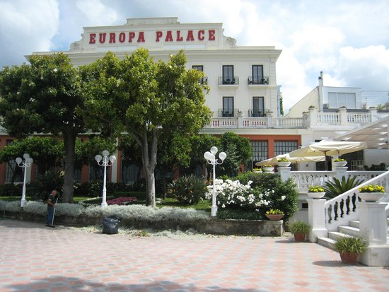 Europa Palace Grand Hotel: View of Hotel from Sea