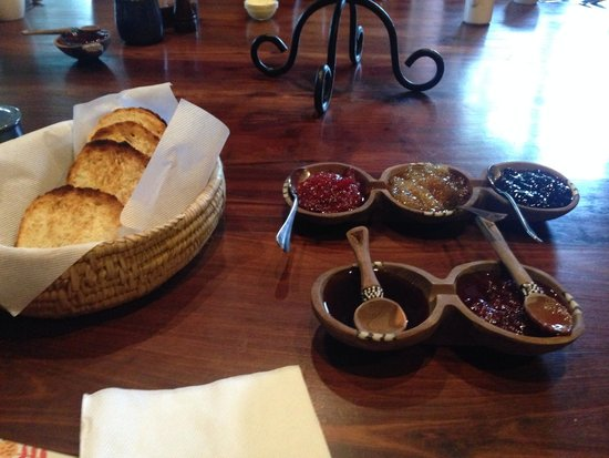 Ngare Sero Mountain Lodge : Homemade jams every morning-the food was delicious!