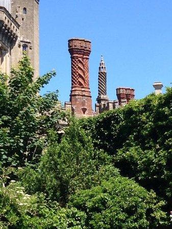 Thornbury Castle and Tudor Gardens: the wonderful tudor chimneys