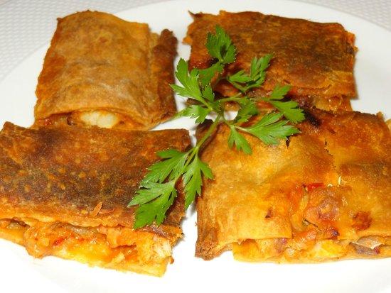 Hotel Spa Relais & Chateaux A Quinta da Auga: La original empanada de bacalao eataba sencillamente deliciosa