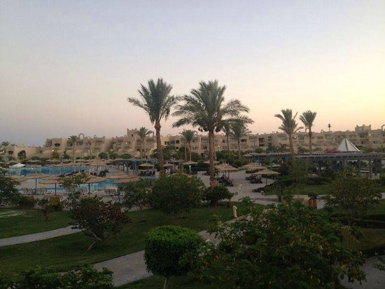 Coral Sea Waterworld Resort : As the Sun Sets from our room