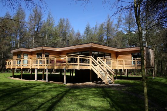 Studford luxury lodges ampleforth lodge reviews for Log cabin homes on stilts