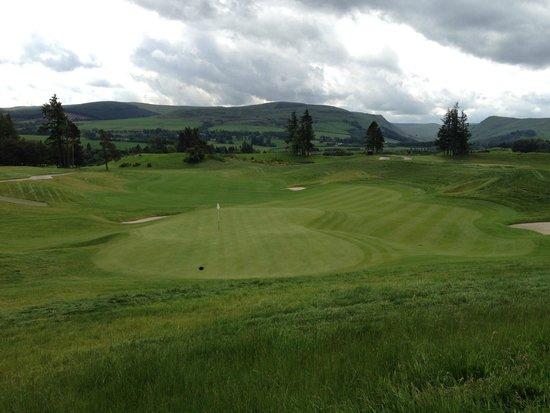 Gleneagles: View back down the PGA Centenary's 18th