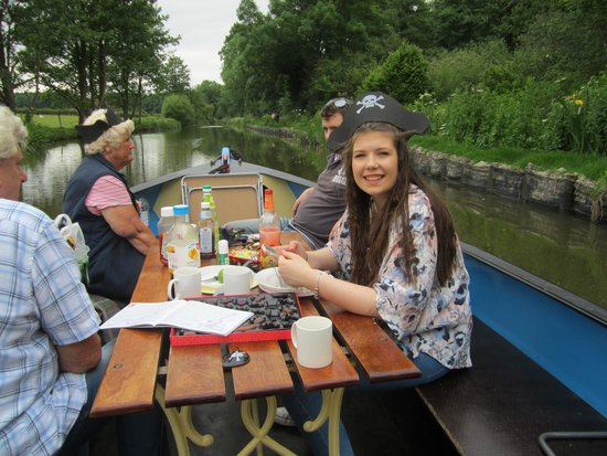 Anglo Welsh Dayboat Hire: Cruising eating chocolates