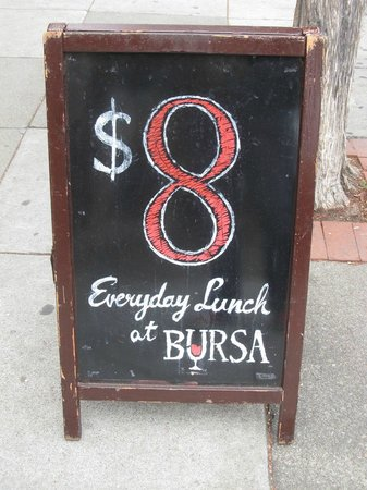 Bursa : See, $8 lunches