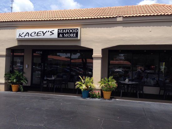 Front of the menu picture of kacey 39 s seafood and more for Sarasota fish restaurants