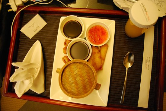 Swissotel Beijing Hong Kong Macau Center: Room Service meal