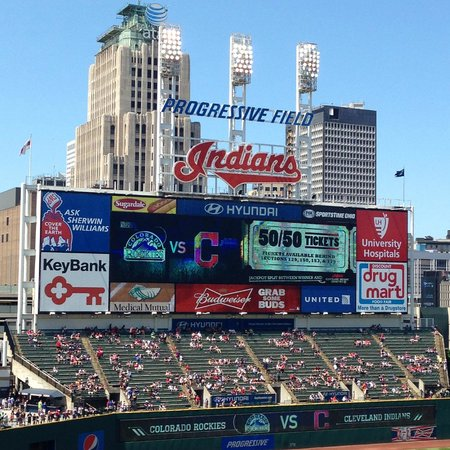 Progressive Field : Scoreboard