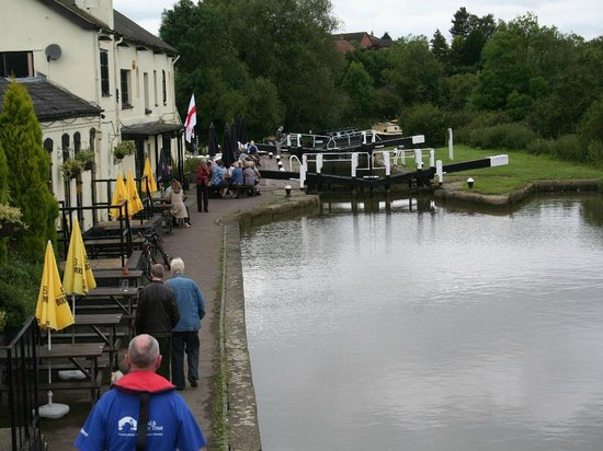 The Three Locks Pub: the pub taken from the middle lock