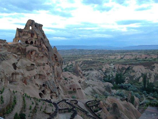 Argos in Cappadocia: Vista de cavernas, do bar do hotel.
