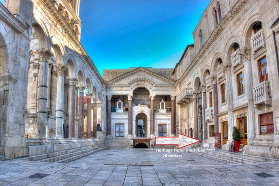 Heritage Hotel Diocletian, Hotels in Split