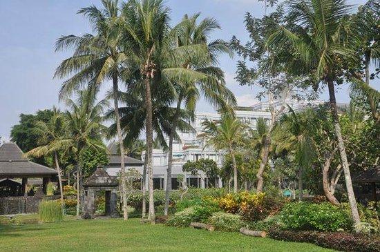 Hyatt Regency Yogyakarta: Hotel view from garden