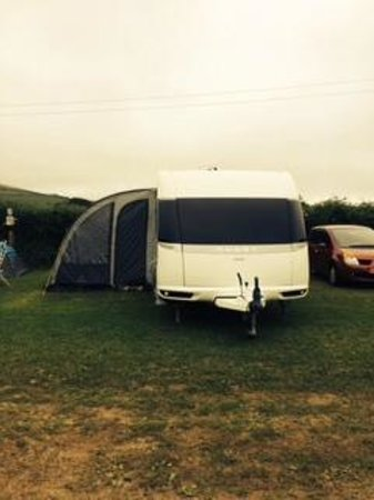 Ballamoar Campsite: Our pitch
