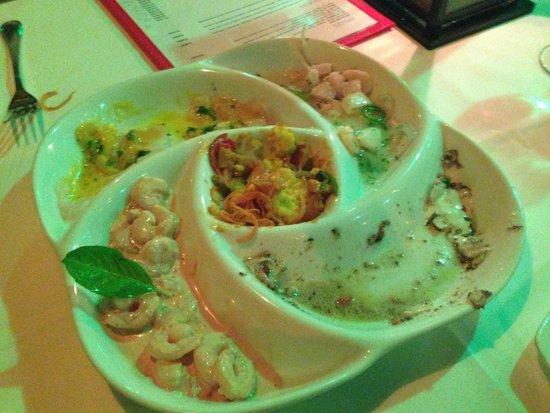 Restaurante La Regatta: Entrada de ceviches