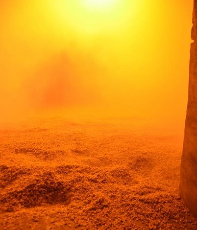 Laphroaig Distillery : Malt being smoked and roasted