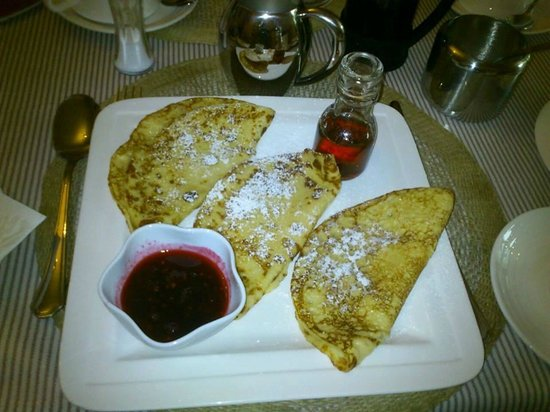 Sika Lodge B & B: Pancakes