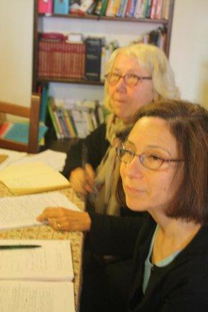 Venice Italian School : Tyna dall'Olanda e Esther dagli Stati Uniti: hanno promesso di tornare l'anno prossimo! Maggio 2