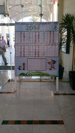 Hilton Hurghada Long Beach Resort: Таблица матчей