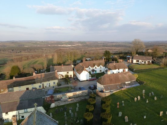 Petrockstowe, UK: View over village centre