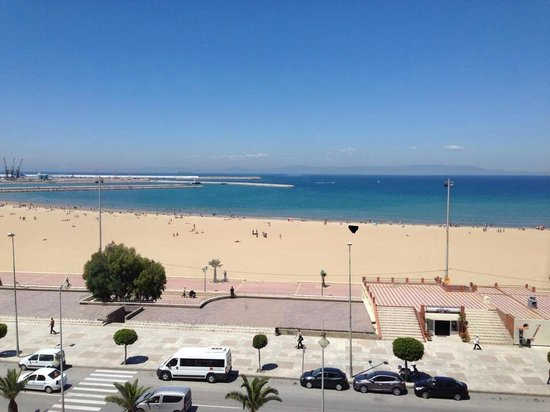 Kenzi Solazur: View from our room at the HUSA Solazur-- we can see all the way to Spain!