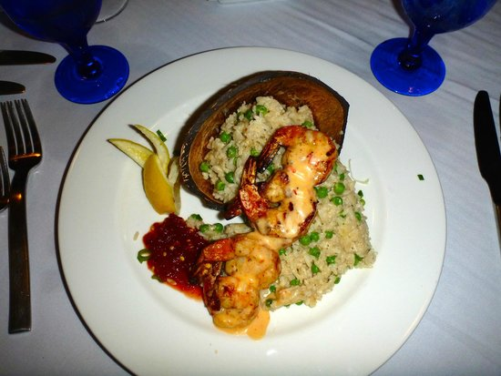 West Bay Club: Tiger prawns at Noodles were outstanding